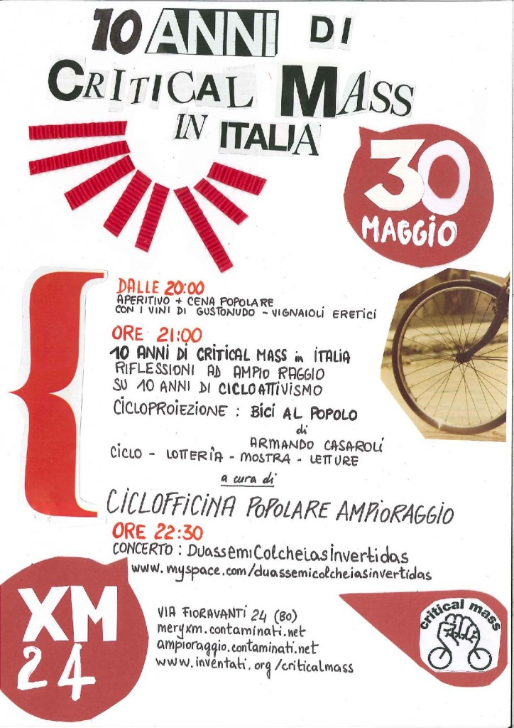 10 di critical mass in italia